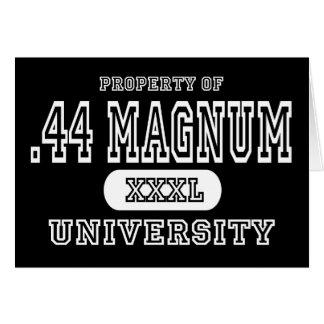 44 Magnum Univeristy Dark Greeting Card