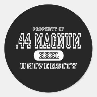 44 Magnum Univeristy Dark Classic Round Sticker