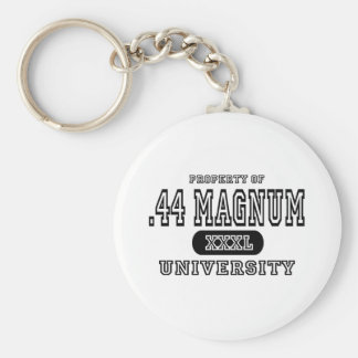 44 Magnum University Basic Round Button Keychain