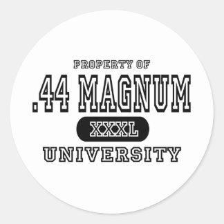 44 Magnum University Classic Round Sticker