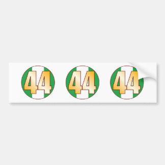 44 NIGERIA Gold Bumper Sticker