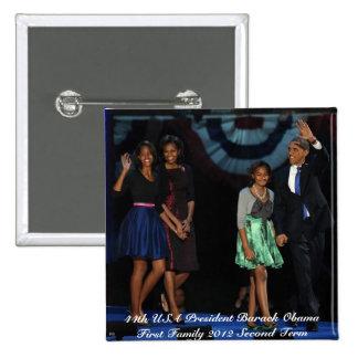 44.o Botón presidencial del cuadrado de la familia