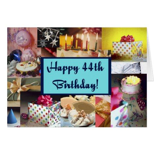44.o cumpleaños feliz tarjeton