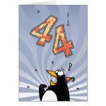44.o cumpleaños - tarjeta de la sorpresa del pingü