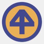 44.o División de infantería Pegatinas Redondas