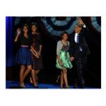 44.o Familia presidencial Postcard-2012 de los E.E Postales