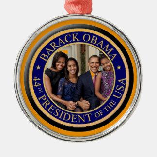 44.o Inauguración 2013 de presidente Barack Obama Adorno Navideño Redondo De Metal