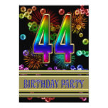 44.o Invitación de la fiesta de cumpleaños con las
