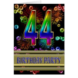 44.o Invitación de la fiesta de cumpleaños Felicitaciones