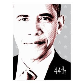 44.o - Obama con las estrellas - postal