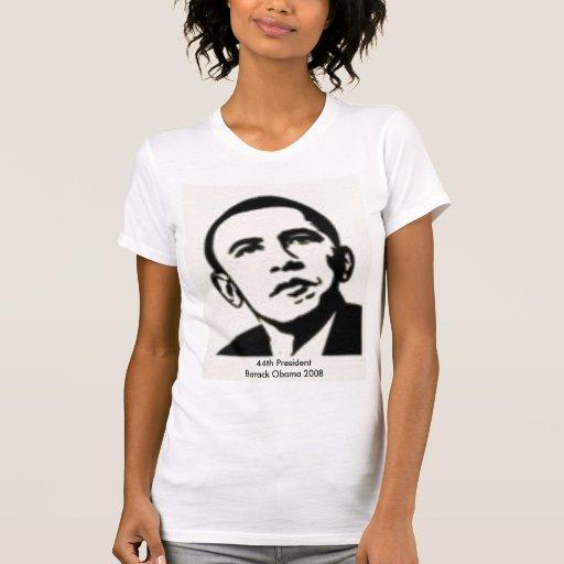44.o Presidente Barack Obama 2008 Camisetas