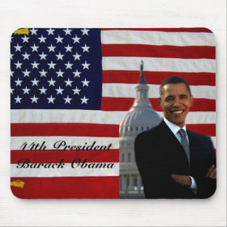 44.o Presidente Barack Obama_Mousepad_by Elenne Tapetes De Raton