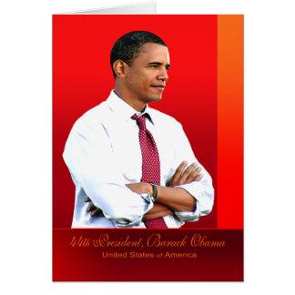 44.o Presidente, Barack Obama Tarjeta De Felicitación