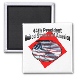 44.o Presidente los Estados Unidos de América Imán Cuadrado