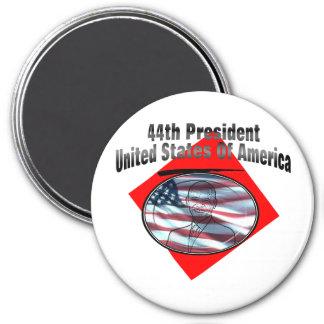 44.o Presidente los Estados Unidos de América Imán Redondo 7 Cm