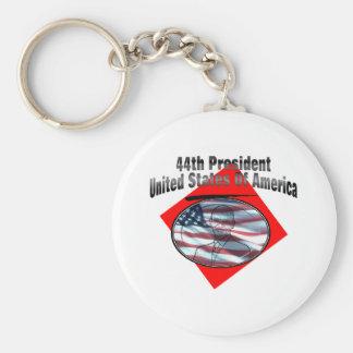 44.o Presidente los Estados Unidos de América Llavero Redondo Tipo Pin