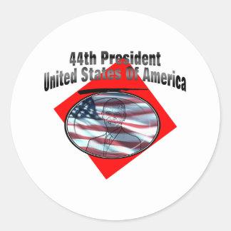 44.o Presidente los Estados Unidos de América Pegatina Redonda