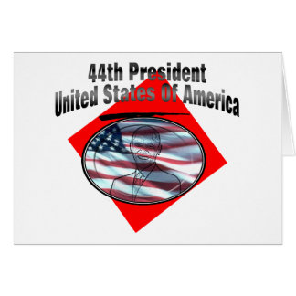 44.o Presidente los Estados Unidos de América Tarjeta De Felicitación