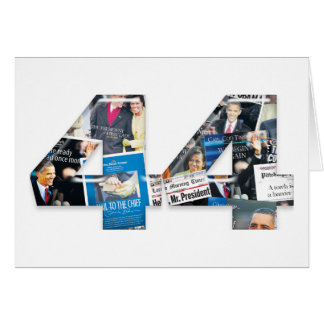 44: Obama Inauguration Newspaper Collage Card
