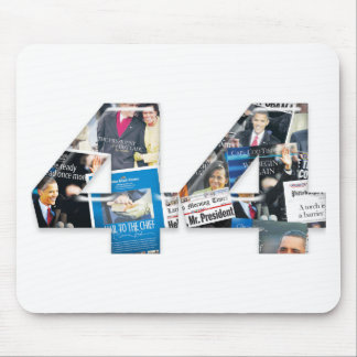 44 Obama Inauguration Newspaper Collage Mouse Pads