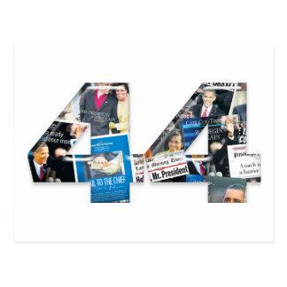 44: Obama Inauguration Newspaper Collage Postcard