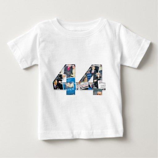 44: Obama Inauguration Newspaper Collage Tee Shirt