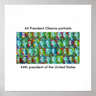 44 President Obama portraits Poster