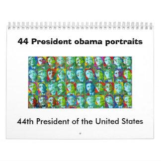 44 retratos de presidente obama, 44.o Presi… Calendarios De Pared