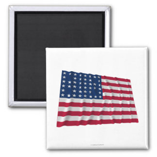 44-star flag, Internal Spaces pattern 2 Inch Square Magnet
