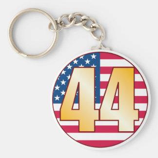 44 USA Gold Basic Round Button Keychain