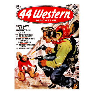 .44 Western - New Law for Mountain City Postcard