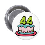 44 Year Old Birthday Cake Buttons