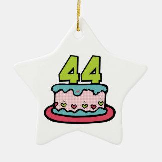 44 Year Old Birthday Cake Ceramic Ornament