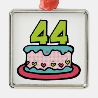 44 Year Old Birthday Cake Metal Ornament