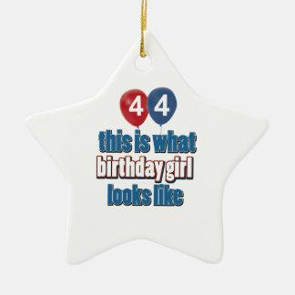 44 year old birthday girl designs christmas ornaments
