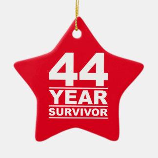 44 year survivor ceramic ornament