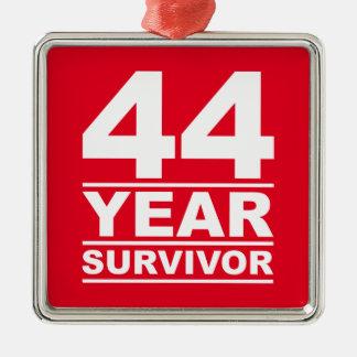 44 year survivor metal ornament