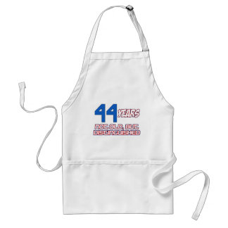 44 YEARS OLD BIRTHDAY DESIGNS ADULT APRON