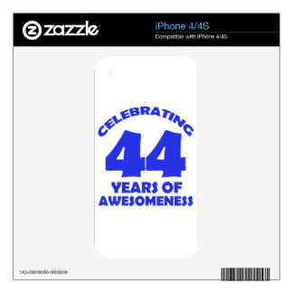 44 years old birthday designs decal for iPhone 4