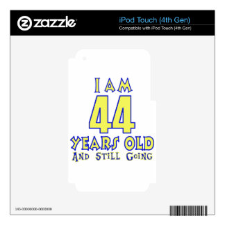 44 YEARS OLD BIRTHDAY DESIGNS SKINS FOR iPod TOUCH 4G
