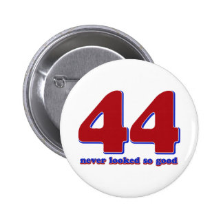 44 years pinback buttons