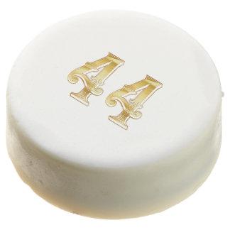 44th Anniversary 44 Birthday Gold White Cookie