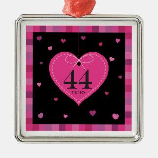 44th Anniversary Heart Ornament
