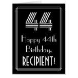 "[ Thumbnail: 44th Birthday — Art Deco Inspired Look ""44"" + Name Card ]"