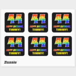 [ Thumbnail: 44th Birthday: Bold, Fun, Simple, Rainbow 44 Sticker ]