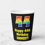 [ Thumbnail: 44th Birthday: Colorful, Fun, Exciting, Rainbow 44 ]