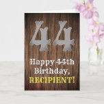 [ Thumbnail: 44th Birthday: Country Western Inspired Look, Name Card ]