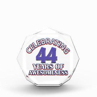44th birthday designs acrylic award