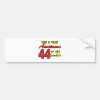 44th birthday designs bumper stickers