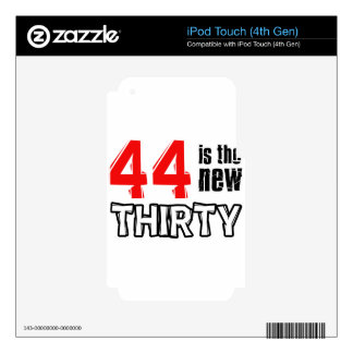 44th birthday designs decals for iPod touch 4G